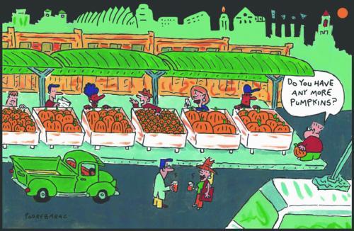 Independent-city market pumpkins